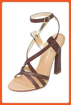 886e8d5a3d8676 Dsquared2 Women Matte Brown Leather Ankle Strap Stiletto High Heel Sandals  Shoes US 9.5 EU 39.5