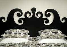 Wooden Cutout Headboard