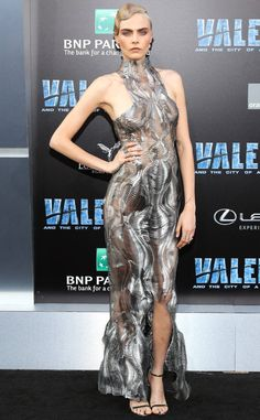 Cara Delevingne from The Big Picture: Today's Hot Photos  Showstopper! The actress and model stuns on the red carpet at the Valerian and The City of a Thousand Planets premiere in Hollywood, California.