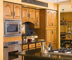 Cabin on pinterest hickory kitchen cabinets hickory for Cathedral arch kitchen cabinets