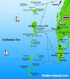 Travel Map Similan Islands