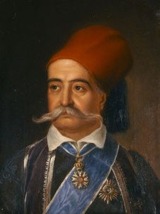 Portrait of Petrobeis Mavromichalis. Oil on canvas by Vryzakis Theodoros - National Gallery collection. Greek Independence, National Gallery, Greek Beauty, Classical Period, Greek History, Greek Art, Freedom Fighters, Chiaroscuro, Art Institute Of Chicago