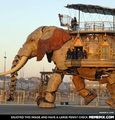 Giant Mechanical Elephant