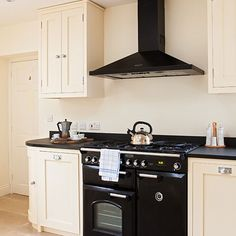 Neutral kitchen with black range cooker | Decorating | housetohome.co.uk