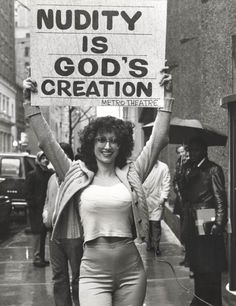 "justforbooks: "" That is Kellie Everts former Miss Nude Universe who came up with the idea a stripper could also be a religious minister. The combination of stripper and evangelical religious. 70s Aesthetic, Protest Signs, Power To The People, Gods Creation, Mode Vintage, Leonardo Dicaprio, 70s Fashion, Hipster Fashion, Fashion 2020"