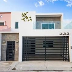Here you will find photos of interior design ideas. Modern Small House Design, Modern Minimalist House, Small Modern Home, House Front Design, Garage Design, Cool House Designs, Modern Living, Home Gate Design, Small Villa