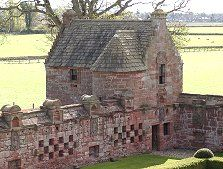 Montrose Area- There's been a castle at Edzell since about 1100, when a wooden structure was erected on top of a motte by the Abbott family. From them the property first passed to the Stirlings of Glenesk, then by marriage to the Lindsay family in 1358. It would stay with the Lindsays until 1715, and almost all of what you see today dates back to their tenure.