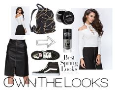 """""""The Real Fouz - White Cold Shoulder Hot Top"""" by ownthelooks on Polyvore featuring Vans, NYX and H&M"""