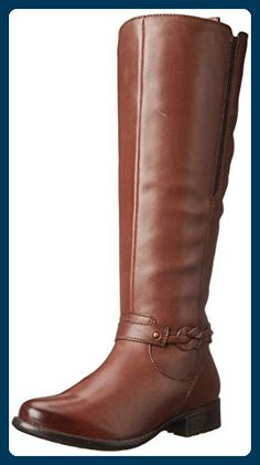 1a130d396ebc Clarks Women s Plaza Market Riding Boot Knee-high boot featuring slim  goring insert at side and ankle harness with braided detail Full-length instep  zipper