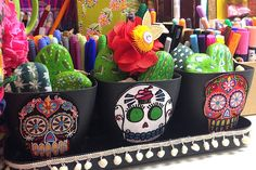 iLoveToCreate Blog: Day of the Dead Faux Cactus Bookends