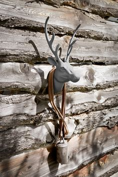 faux deer at the cabin Chic Chalet, Chalet Style, Winter Cabin, Cozy Cabin, Chalet Zermatt, Miramonti Boutique Hotel, Log Cabin Living, Chalet Interior, Chalet Design