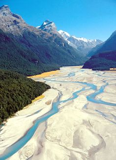 New Zealand - this didn't say the location, I think it's probably the Tasman River a little below the Glacier.