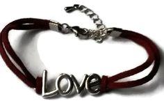 Armband love rood