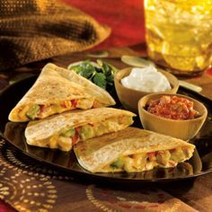 Mexican Four Cheese and Chicken Quesadilla