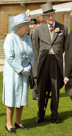 Fine fettle: The Duke of Edinburgh looked dapper in his top hat and tails on his 93rd birthday