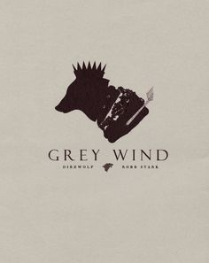 Grey Wind ~ House Stark ~ Minimalist Poster by Son of Wolves ~ Game of Thrones Fan Art