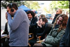 """#charmcolorfully a laugh on the set of """"the waiting game"""" starring anna kendrick"""