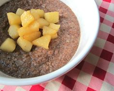 Apple Pie Breakfast Porridge with Teff