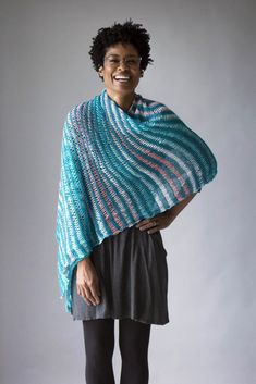 Free Pattern Friday – Scruncher Scarf in Fibra Natura Whisper Lace and Universal Yarn Cotton Supreme Batik.  Easy to knit, easy to wear!