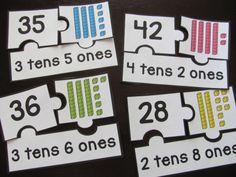 Place Value puzzles. I don't teach this but this is a great idea for review or even an assessment.
