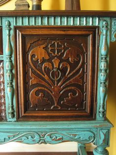 European Paint Finishes: ~ Old World European Sideboard ~ This co. does an amazing job with refinishes!