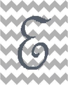 Cross Stitch Pattern Chevron Background by oneofakindbabydesign Cross Stitch Letters, Just Cross Stitch, Cross Stitch Baby, Modern Cross Stitch, Cross Stitching, Cross Stitch Embroidery, Chevron Cross, Personalised Gifts Diy, Stitch Patterns