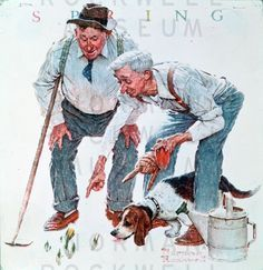Norman Rockwell. 'The Garden'.
