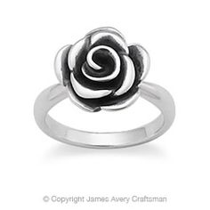 Thrifty Thursday: Silver Rose Ring. Possibly make earrings as well?