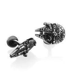 Cufflinks Inc. - Star Wars Collection Palladium Millennium Falcon Cufflinks