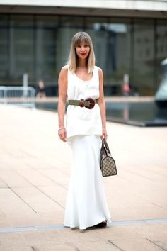 Ideas on how to style a wide statement belt | For more style inspiration visit 40plusstyle.com
