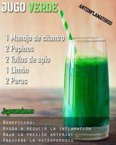 Jugo verde para combatir la inflamación y la osteoporosis. #jugoverde #osteoporosis #inflamacion #salud #jugo