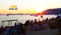 Scorpios Mykonos Part Sunset ritual in (live Connie Mitchell - Friends) Connie Francis, Best Greek Islands, Golden Time, Mykonos Island, Mystic, Creatures, Restaurant, Bar, Sunset