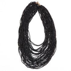 Maasai Glass Bead Necklace Black - Lov'edu - Ethical, Fair Trade & Handmade Accessories, Jewellery, Home Decor & Gifts  #handmade #fairtrade #African #jewelry #Ghana #beads #lovedu www.lovedu.co.uk/collections/organic-handmade-necklaces/products/maasai-glass-bead-necklace-black