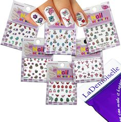 Festive and Fun 3D Nail Stickers Decals /LD2/- Easter Egg, Bunny, etc. - Pack of 6 ** You can find more details by visiting the image link.