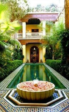 Magical Moroccan Riad garden - not exactly a small garden but too beautiful not to Pin!