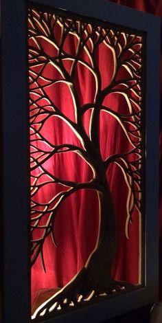 2'x4' plywood tree carving  Tree of life Jayscraft@gmail.com Wood Carving Designs, Wood Carving Art, Wood Art, Metal Wall Sculpture, Wall Sculptures, Metal Wall Art, Interiores Art Deco, Jaali Design, Coffee Shop Interior Design