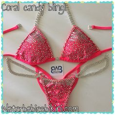 Coral color Candy Bling!