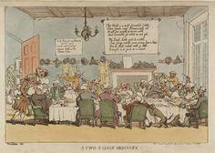 "Rowlandson's ""A Two O'Clock Ordinary"", 1811"