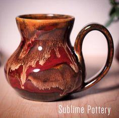 Molten Bliss mug by Amanda Joy Wells of Sublime Pottery Glazes For Pottery, Pottery Mugs, Pottery Ideas, Ceramics Projects, Ceramic Mugs, Ceramic Art, Ebay Auction, Coffee Cups, Wells