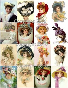 """Printed Vintage Victorian Easter Art Images Collage Sheet 8.5 x 11"""" For Decoupage, Altered Art, Scrapbooking etc. Ready to use for any project, scrapbooking, crafts, jewelry etc. Professionally printe"""