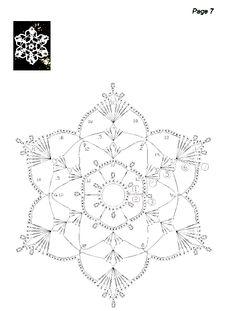 snowflakes crochet schema 6
