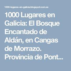 1000 Lugares en Galicia: El Bosque Encantado de Aldán, en Cangas de Morrazo. Provincia de Pontevedra. Fun, Portugal, Haunted Forest, Santiago, Viajes, Places, Motor Homes, Trekking, Caribbean