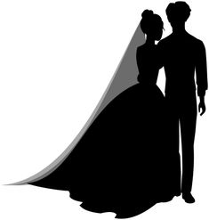 Wedding Couple Silhouettes PNG Clip Art in category Wedding PNG / Clipart - Transparent PNG pictures and vector rasterized Clip art images. Wedding Dress Silhouette, Couple Silhouette, Silhouette Painting, Silhouette Clip Art, Tribal Heart Tattoos, Couple Clipart, Wedding Ceremony Chairs, Silhouettes, Autumn Bride