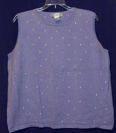 Women's Sweater Vest Shirt Top By Dressbarn Woman 18 / 20 Purple Lavender  #dressbarn #VestSleeveless