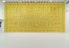 Self-confidence Produces Fine Results, 10,000 bananas and glue, installation view at Deitch Projects by Stefan Sagmeister