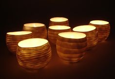 Porcelain candlelight holders by woodfirer