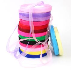 New Assorted Colour Satin Silk Ribbons Xmas Gift Wrapping 16mm Craft Sewing Kit