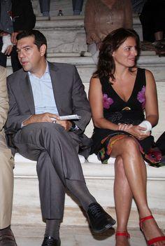 Alexis Tsipras & Peristera Batziana  Photo: NDP Photo