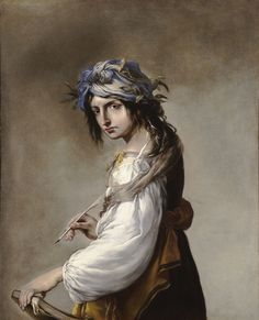 Salvator Rosa, Lucrezia as the Personification of Poetry, 1640, oil on canvas, 45 3/4 x 37 1/4 in., The Ella Gallup Sumner and Mary Catlin Sumner Collection Fund, 1956.159