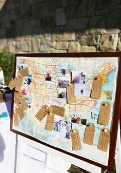 Bulletin Board as a wedding guest book